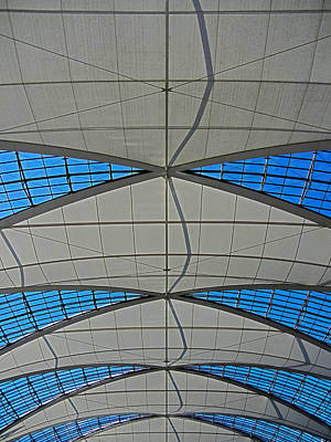 Muenchen Photograph - Roof Structure ... by Juergen Weiss