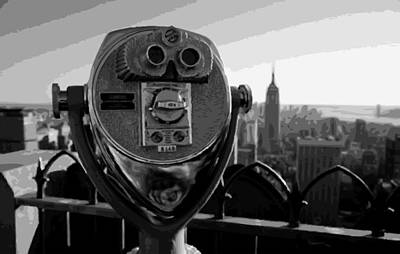 Rock The World Digital Art - Rooftop Rockefeller Bw16 by Scott Kelley
