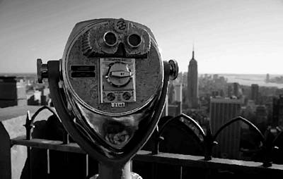 Rock The World Digital Art - Rooftop Rockefeller Bw200 by Scott Kelley
