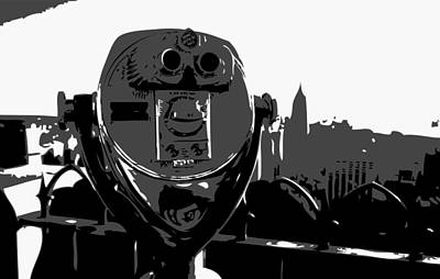 Rock The World Digital Art - Rooftop Rockefeller Bw3 by Scott Kelley