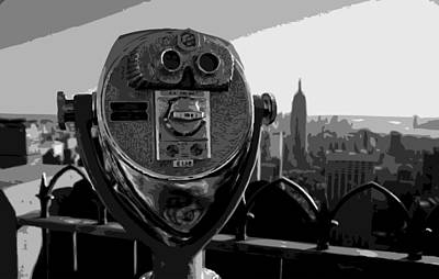 Rock The World Digital Art - Rooftop Rockefeller Bw8 by Scott Kelley