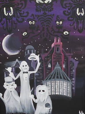 Haunted Mansion Painting - Room For One More by Lisa Leeman