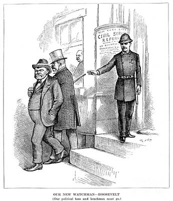 Roosevelt Cartoon, 1884 Print by Granger