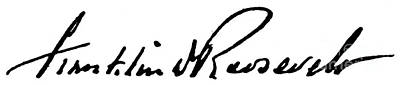 Roosevelt Signature Print by Granger