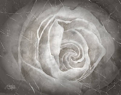 Rose Mixed Media - Rose Blanche by Arline Wagner