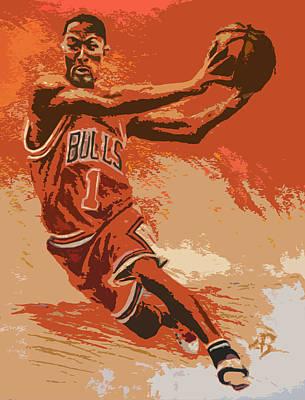 Rose Pastel Poster Original by Adam Barone