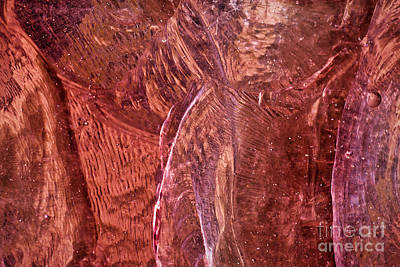 Abstracts Photograph - Rose Stained Glass by Susan Isakson