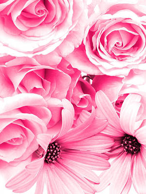 Blooming Digital Art - Roses Are Pink by Phill Petrovic