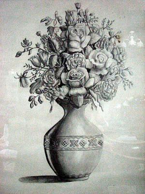 Roses Painting - Roses In A Vase by Amani Al Hajeri