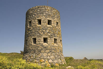 Rousse Tower -napoleonic Fortified Tower  - Isle Of Guenrsey Print by Urft Valley Art