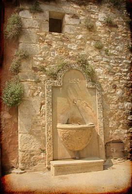 Roussillon Fountain Print by Carla Parris