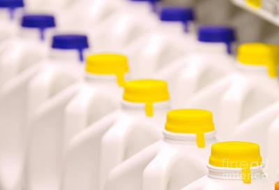 Row Of Milk Jugs Print by David Buffington