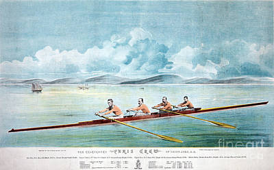 Rowing Photograph - Rowing Team, C1875 by Granger