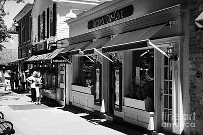 Rows Of Restaurants In The Historic Queen Street District Of Niagara-on-the-lake Ontario Canada Print by Joe Fox