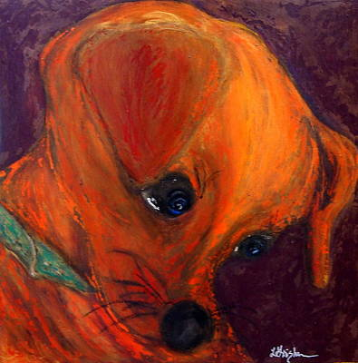 Roxie's New Portrait Print by Laura  Grisham