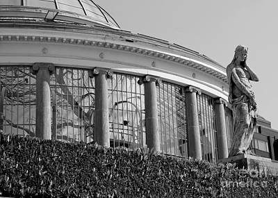 Royal Conservatory In Brussels - Black And White Print by Carol Groenen