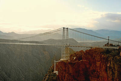 Royal Gorge Bridge Colorado - Take A Walk Across The Sky Print by Christine Till