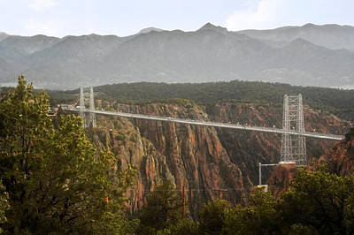 Royal Gorge Bridge Colorado - The World's Highest Suspension Bridge Print by Christine Till