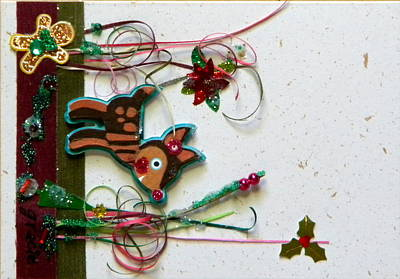 Gracie Mixed Media - Rudolf's Christmas by Gracies Creations