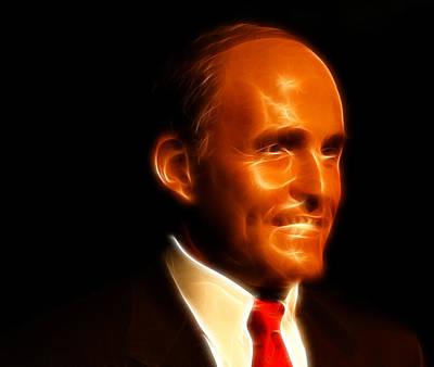 Rudy Giuliani - Rudolph William Louis Giuliani Print by Lee Dos Santos