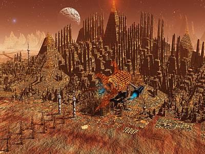 Jet Star Digital Art - Ruin by Diana Morningstar