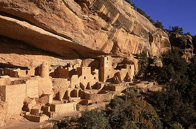Ruins Of The Anasazi Cliff Palace Print by Ira Block
