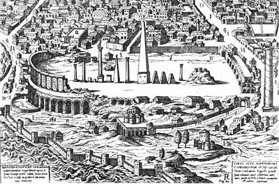 Ruins Of The Hippodrome, 5th Century Print by Photo Researchers