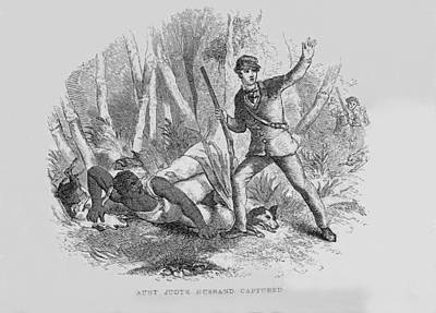 Runaway Slave With Armed Slave Catcher Print by Everett
