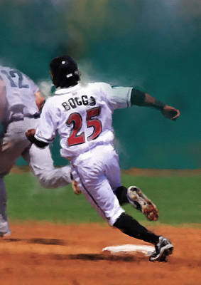Minor League Painting - Running The Bases by Dennis Wright aka The Mellow One