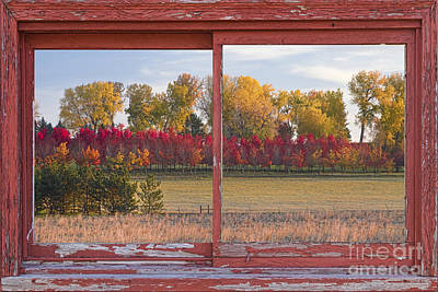Picture Window Frame Photos Art Photograph - Rural Country Autumn Scenic Window View by James BO  Insogna