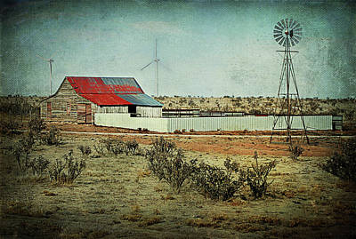 Rural Cow Pasture Print by Melany Sarafis