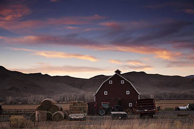 Agriculture Photograph - Rural Sunset by Andrew Soundarajan