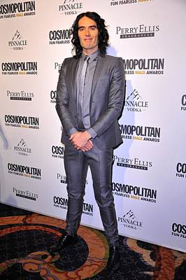 Russell Brand At Arrivals Print by Everett