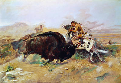 Russell: Buffalo Hunt Print by Granger