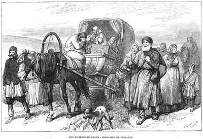 Babushka Photograph - Russia: Famine, 1891 by Granger