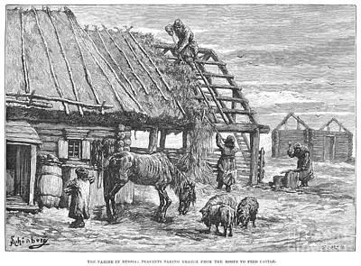 Babushka Photograph - Russia: Famine, 1892 by Granger