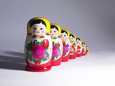 Matryoshka Photograph - Russian Dolls by Tony Mcconnell