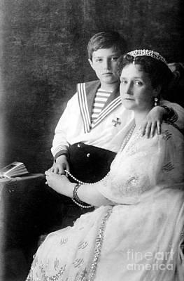 Russian Tsarina Alexandra & Tsarevich Print by Photo Researchers