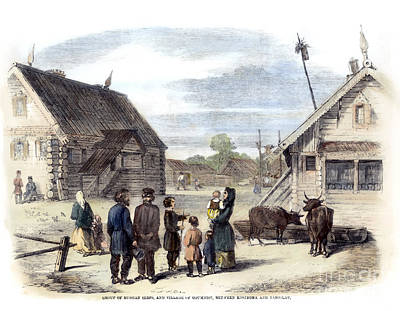 Babushka Photograph - Russian Village, 1861 by Granger