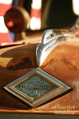 Rusted Antique Diamond Car Brand Ornament Print by ELITE IMAGE photography By Chad McDermott