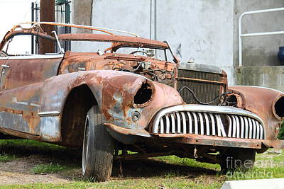 Rusty Old American Car . 7d10347 Print by Wingsdomain Art and Photography
