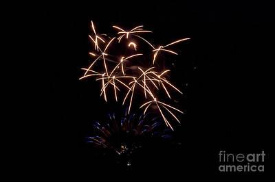 Rvr Fireworks 109 Print by Mark Dodd