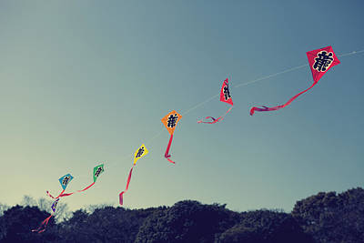 Shibuya Photograph - Ryuu Kites by Copyright Paul England