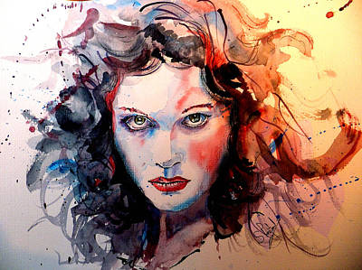 Watercolour Painting - Sabina by Steven Ponsford