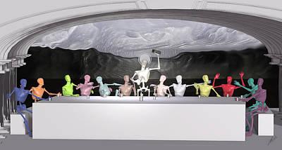 Robotics Mixed Media - The Last Supper by Joaquin Abella