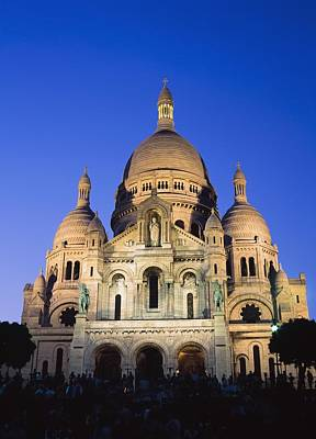 Sacre Coeur Photograph - Sacre Coeur At Dusk by Axiom Photographic