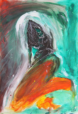 Baba Painting - Sadhu by Die Go Learn
