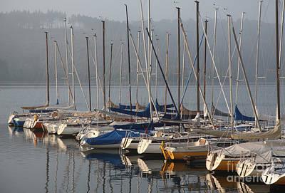 Water Skippers Photograph - Sail Boats by Enzie Shahmiri