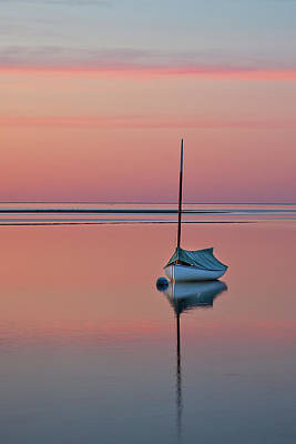Buoy Photograph - Sailboat And Buoy At Sunset by Betty Wiley