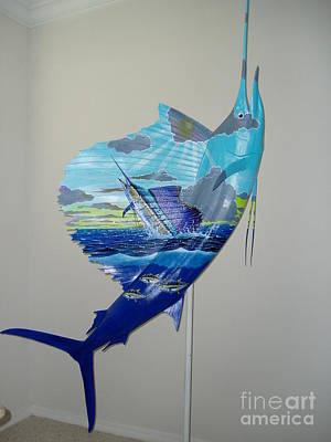 Painting - Sailfish Art On Sailfish by Carey Chen